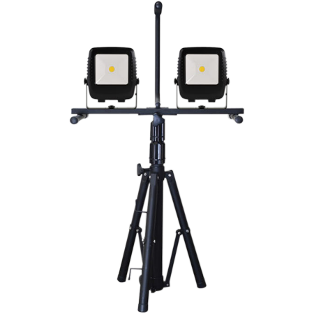 Double Work Lights with Heavy Duty Tripod Quick Release